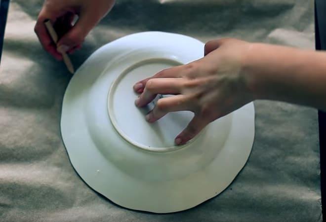 Чертим круг желаемого диаметра