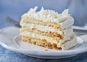 Домашний рецепт нежного торта с безе пошагово и с фото