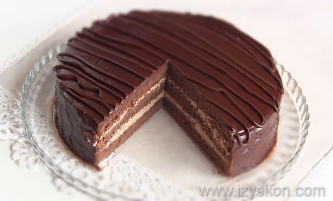 торт прага классический с фото