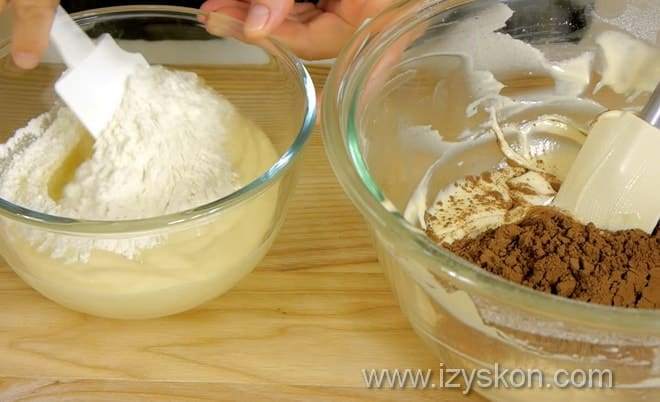 Как приготовить тесто для пирога зебра