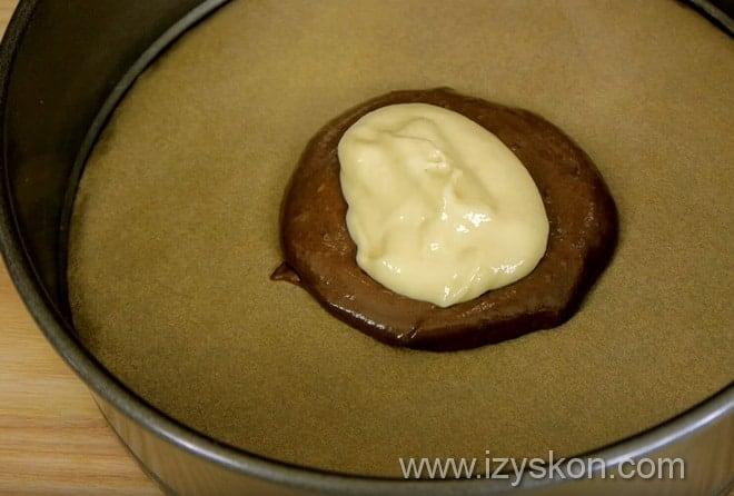 Как сделать пирог зебра полосатым