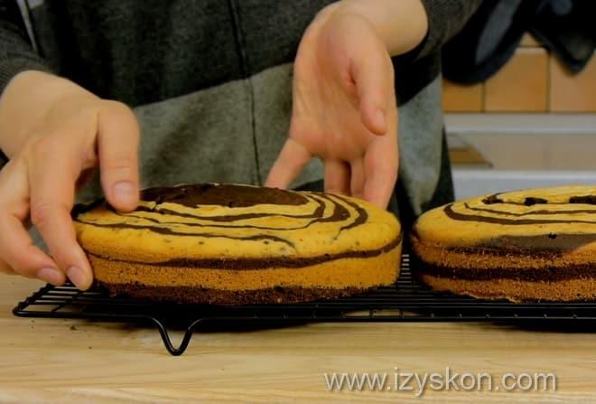 Как приготовить пирог зебра пошагово с