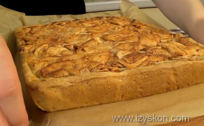 Какой должен получиться цветаевский яблочный пирог