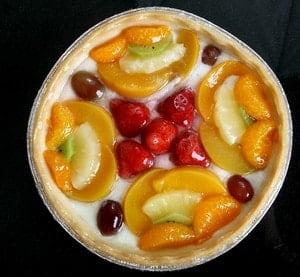 Как украсить торт фруктами с желе