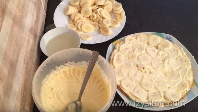 Как приготовить очень вкусный банановый торт