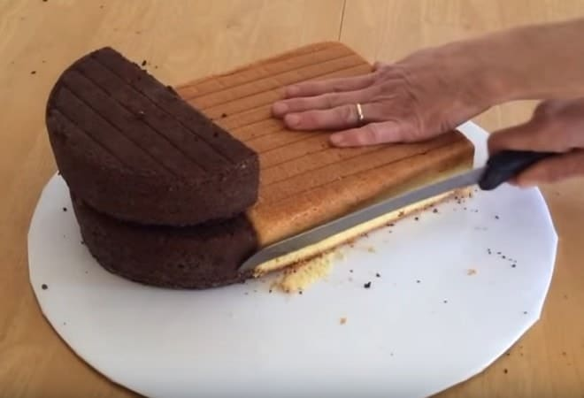 Как сделать торт Сердце без формы в домашних условиях