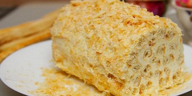 Пошаговая инструкция приготовления торта Полено с фото