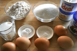 Продукты для торта три молока