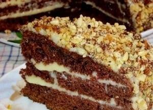 Как приготовить торт Фантастика на кефире в домашних условиях