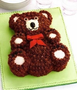 Торт в виде мишки