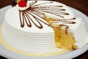 Как украсить торт три молока