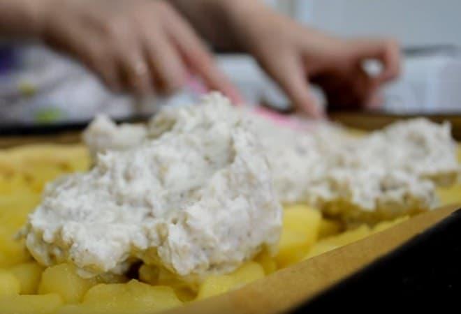 Оформление творожного пирога