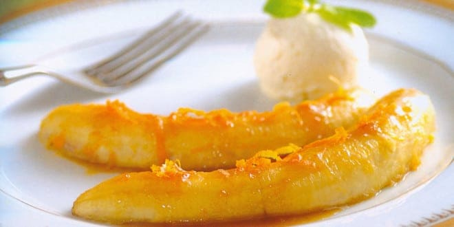 Технология приготовления бананов фламбе: рецепт с фото