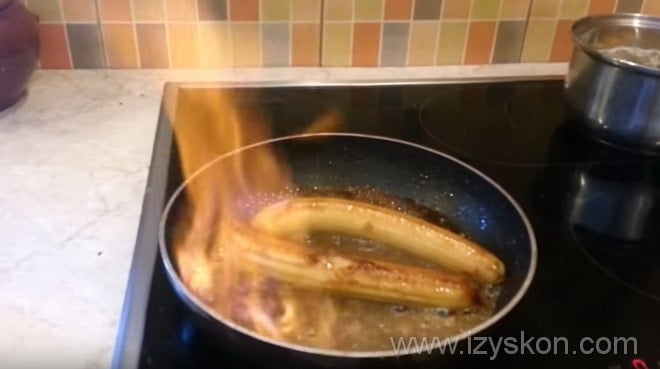 Поджигаем банановое фламбе