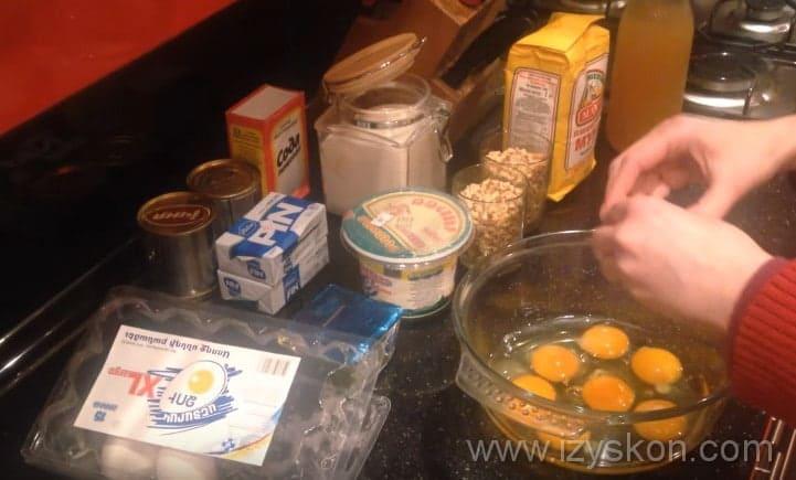 Начинаем процесс приготовления теста для торта Генеральский по рецепту с фото пошагово
