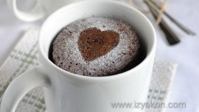 Как можно украсить быстрый кекс в кружке
