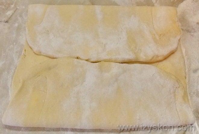 Готовим мильфей из слоеного теста