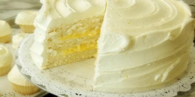 Как украсить лимонный торт