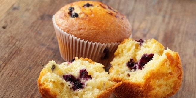 Вкусные кексы с черникой: пошаговый рецепт с фото