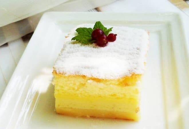 Для оформления десерта используем сахарную пудру