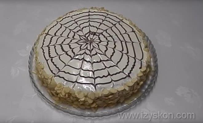 Готовый результат того, как я приготовила торт Эстерхази