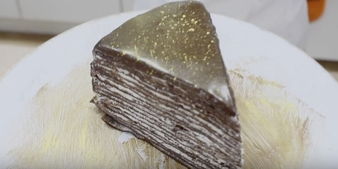 Пошаговый рецепт приготовления блинного торта с творожным кремом