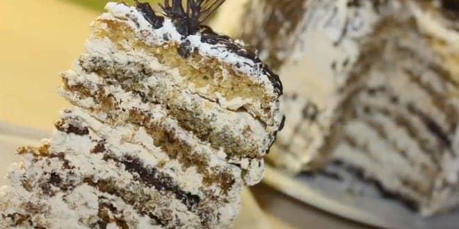 Пошаговый рецепт «Королевского» торта без муки