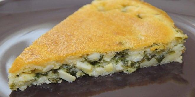 Пошаговый рецепт пирога с зеленым луком и яйцом