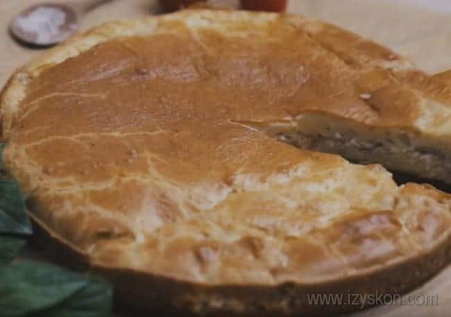Наш закрытый пирог с рыбой готов!