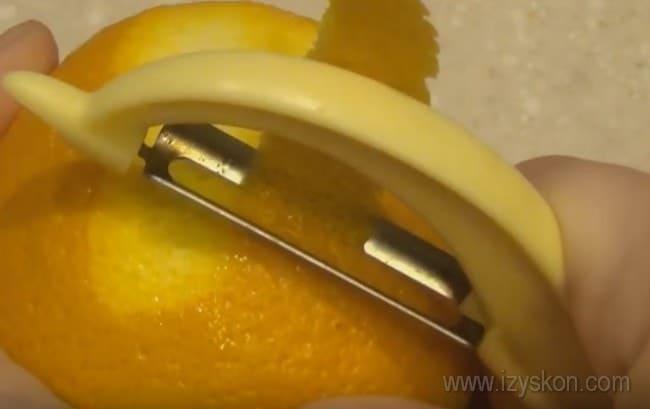 Для приготовления постного апельсинового кекса нам понадобится цедра.