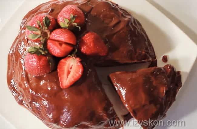 Готовим вкусный шоколадный блинный торт с заварным кремом по пошаговому рецепту