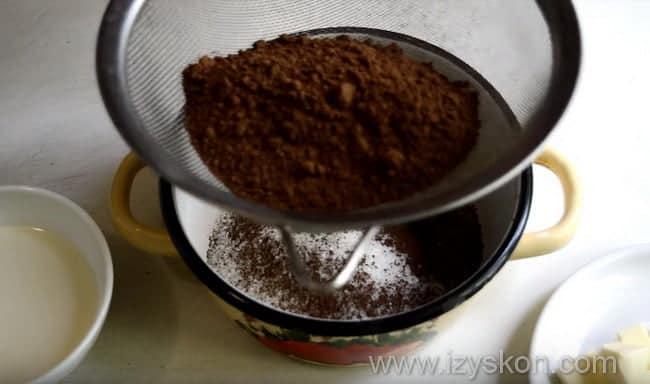 как правильно сварить шоколадную глазурь из какао в домашних условиях
