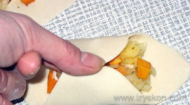 Процесс лепки мантов