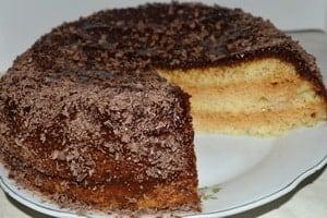 Пошаговый рецепт бисквитного торта в мультиварке