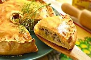 Пошаговый рецепт рыбного пирога в мультиварке