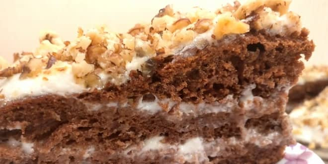 Пошаговый рецепт шоколадного торта на кефире Фантастика