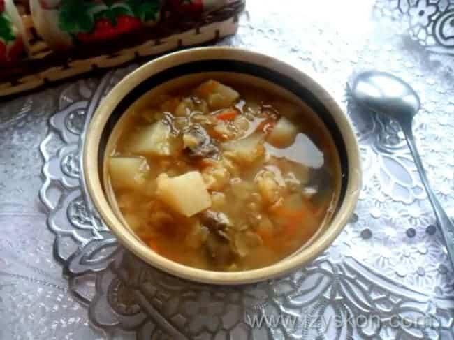 Гороховый суп с шампиньонами рецепт