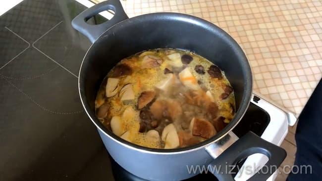 варим грибной суп из замороженных грибов рецепт