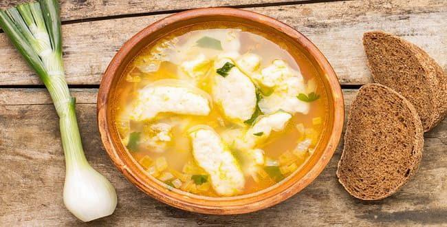 Пошаговый рецепт приготовления супа с галушками
