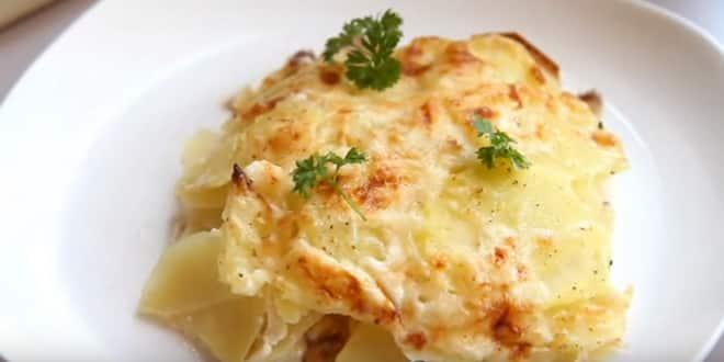 Пошаговый рецепт картофельной запеканки с сыром в духовке