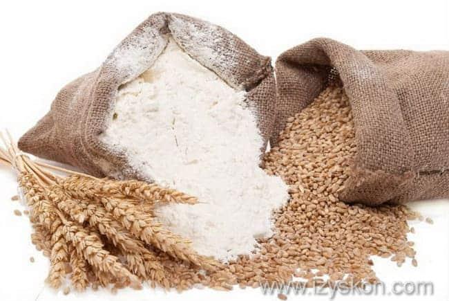 ингредиенты для листов для лазаньи с использованием отрубей