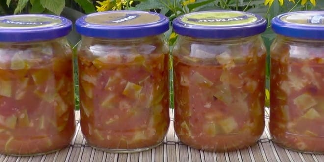 Заготавливаем вкусные кабачки в томатном соусе на зиму: два рецепта с пошаговыми фото!