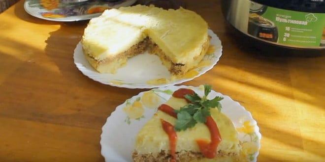 Как приготовить картофельную запеканку с фаршем в мультиварке по пошаговому рецепту с фото