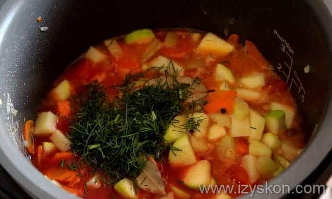 Готовим очень вкусное рагу из кабачков и картошки в мультиварке по подробной фото инструкции