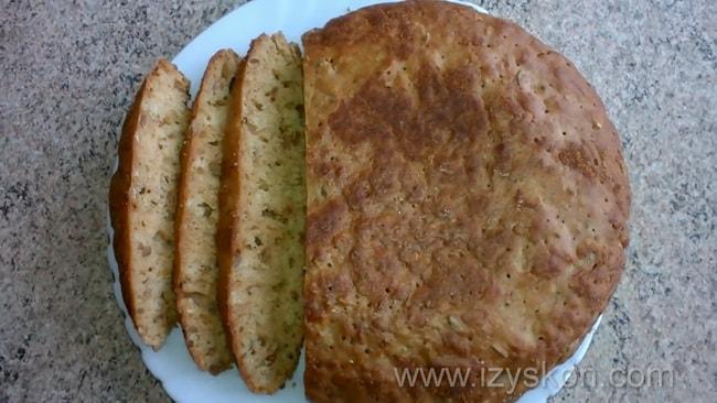Полезный бездрожжевой хлеб готов, читайте подробный рецепт.