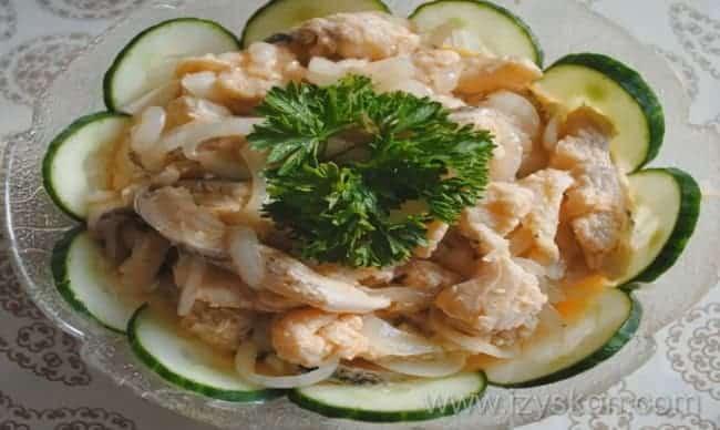 вкуснейшая рыба хе. по простому рецепту готова.
