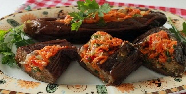 Как приготовить фаршированные баклажанына зиму по лучшим пошаговым рецептам с фото