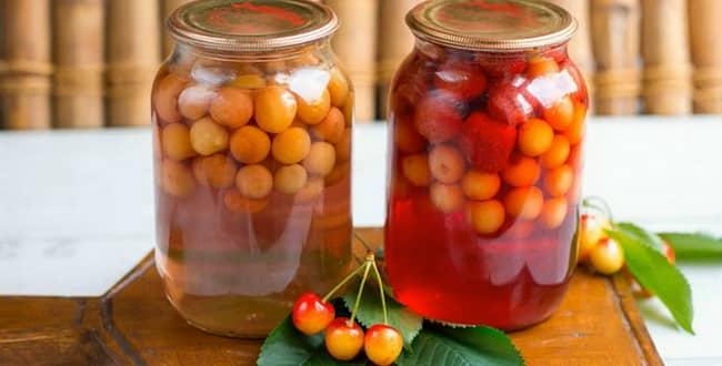 Как приготовить компот из черешни на зиму по пошаговому рецепту с фото