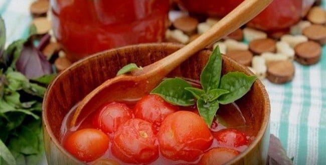 Пошаговые рецепты приготовления помидоров в томатном соусе на зиму