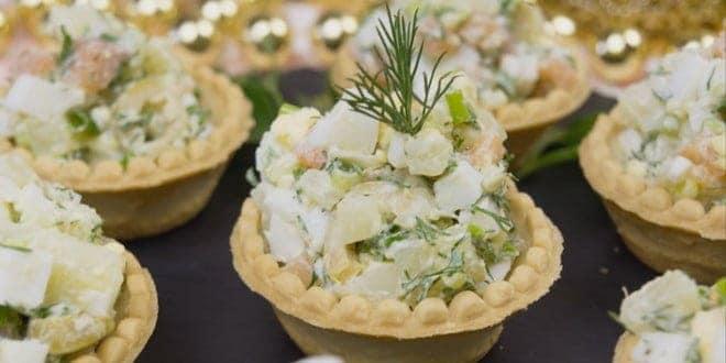Как приготовить салат в тарталетках по простому рецепту с фото